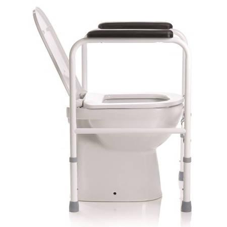 Sostegno in acciaio per wc regolabile in larghezza ed altezza - Rialzo per bagno ...