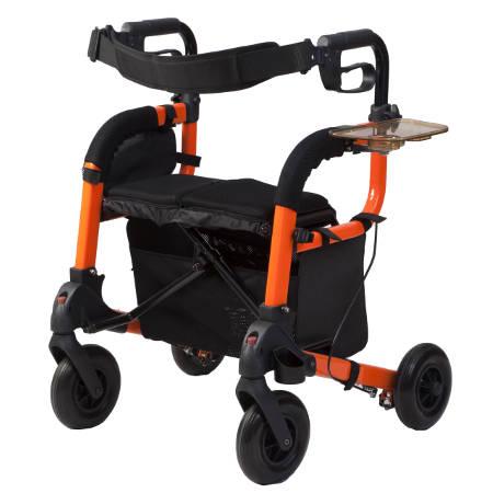 Deambulatore da esterno rollator trasformabile in for Sedia a rotelle doppia crociera