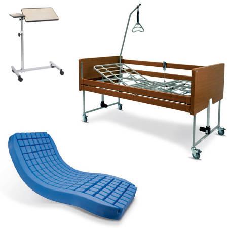 Letto elettrico in legno con sponde materasso - Prezzo letto per disabili ...
