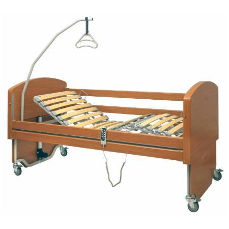 Letto da degenza elettrico con sponde e doghe in legno rebecca 15000014 - Letto ortopedico con sponde ...