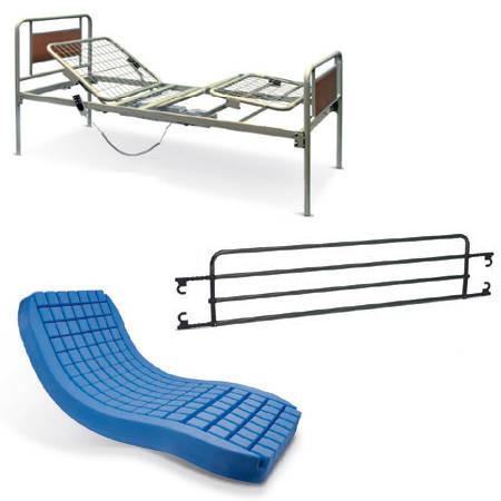 Letto ospedaliero elettrico materasso antidecubito - Tavolo da letto ...