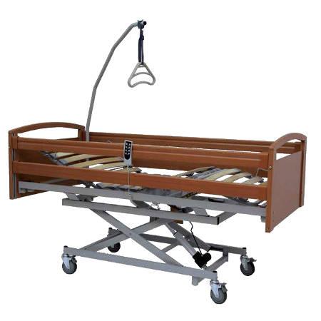 Letto sanitario elettrico in legno elevabile con sponde sax 15000004 - Letto ortopedico con sponde ...